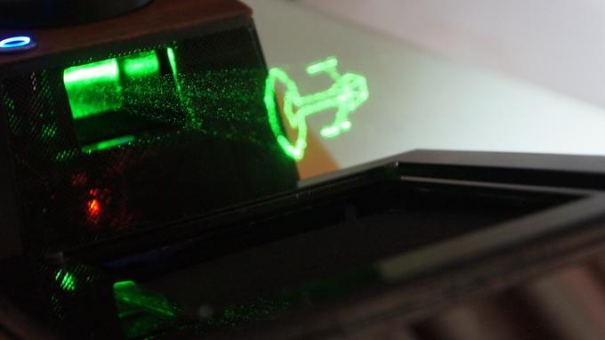 Hologramas Láser Vectoriales Interactivos. WOW!