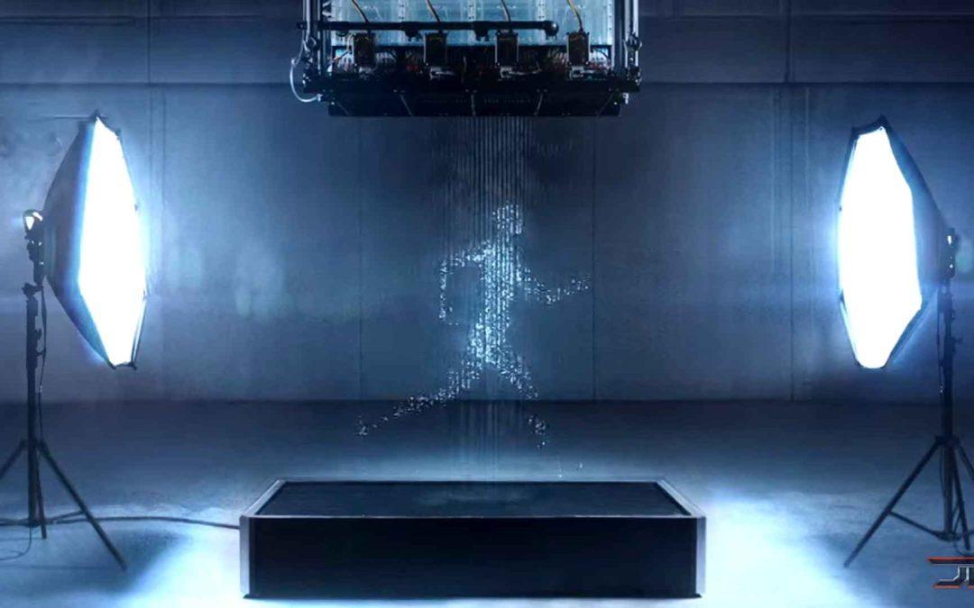 Un holograma hecho de agua !?!?!?